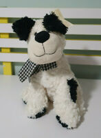 TEDDY AND FRIENDS DOG WHITE AND BLACK BELAIR STUFFED ANIMAL 29CM