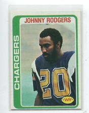 1978 Topps #63 Johnny Rodgers Nebraska / San Diego Chargers Rookie Heisman