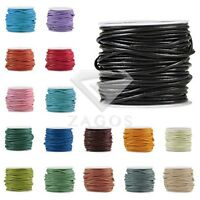 10m/Roll Real Round Leather Cord Thong DIY Jewellery Bracelet 1/1.5/2/3mm