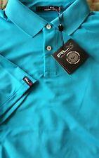 Men's Ralph Lauren RLX Short Sleeve Golf Polo NWT Large L Sea Cruise Blue