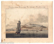 Tenerife-Teide-Pic-Canarias - Canary Islands-aquatinta Bertuch alrededor de 1800