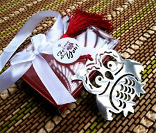 FD3695 Creative Hollow Owl Exquisite Alloy Bookmarks With Ribbon Box Cute Gift ☆
