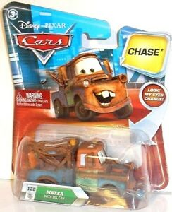 Look B - MATER WITH OIL CAN - #130 CHASE Disney Cars Mattel auto Lenticular Eyes