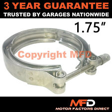 """V-BAND OUTER CLAMP STAINLESS STEEL EXHAUST TURBO HOSE RADIATOR 1.75"""" 45mm"""