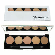 W7 Camouflage Kit Cream Contour Concealer Palette 5 Shades | Mirror & Brush