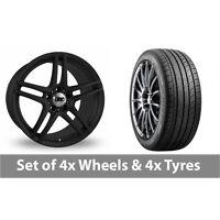 "4 x 18"" DRC DMG Matt Black Alloy Wheel Rims and Tyres -  225/40/18"