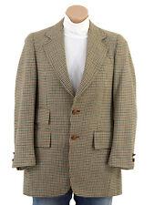 Vtg 60s Dogtooth HOUNDSTOOTH PLAID Wool Sportscoat Blazer Mod Suit Jacket 36