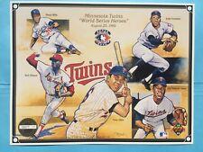 1992 Minnesota Twins Upper Deck Sheet World Series Hero UD SGA Olivia Versalles