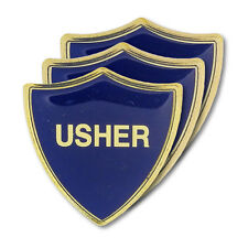 Usher Blue Wedding Shield Badge