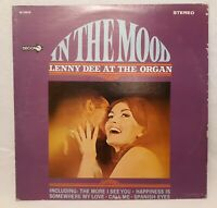 In The Mood Lenny Dee at the Organ LP Vinyl Record SIGNED 1970 RECORD IS NM