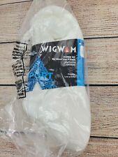 Wigwam Women's Super 60 No Show Lite White 3-Pack Socks S1034-051 Size L