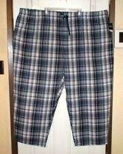 NWT HARBOR BAY Sleep/Lounge Pants BIG 6XL Blue/White 100% COTTON LIGHTWEIGHT Fas