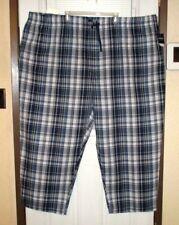 NWT HARBOR BAY Sleep/Lounge Pants Big 5XL Blue/White 100% Cotton Lightweight Fas