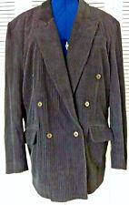 Bugatchi Uomo  Men's Medium Black Corduroy Suede Lined Jacket Blazer