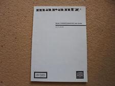 Für MARANTZ CD6000SE CD-Player original Bedienungsanleitung in Top Zustand