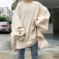 Women Oversized Sweats Hooded Long Sweater Sweatshirts Tops Cotton Baggy Loose n