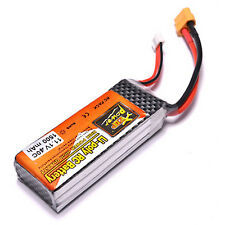ZOP 11.1V 1500mAh 40C XT60 Connector Lipo Battery for RC Helicopter Quadcopter