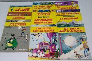 DARGUARD LUCKY LUKE WESTERN PAPERBACK MORRIS & GOSCINNY COMIC LOT (11) FRENCH