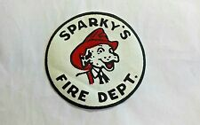 Patch Sparky's Fire Dept. Department Dalmatian Hat Iron On Fire Prevention