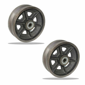 "2 Pcs of 6"" V-Groove Wheel - 500 lbs capacity"