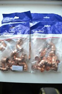 30 Primaflow Solder Ring 22mm  Copper Fittings  Elbow - Straight