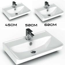 Design KeramikWaschbecken Waschtisch wandhängend 45 / 50 / 60 cm weiß KB-19000