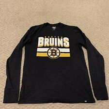 Boston Bruins '47 Brand Long Sleeve T Shirt NHL Hockey Mens Small