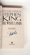 Stephen King Signed Autograph The Dark Tower III The Waste Lands Book