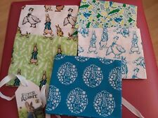 PETER RABBIT FAT QUARTER BUNDLE, LIMITED EDITION BY ALDI 5 PIECES BRAND NEW WITH