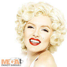 Marilyn Monroe Short Blonde Wig Hollywood Glamour 1950s Fancy Dress Costume Wig
