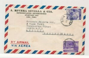 D174691(1) Peru Airmail Cover 1930/40's Lima London England