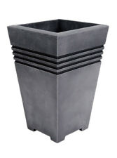 STRATA Gn715 MILANO Tall Square Planter Pewter 46cm High