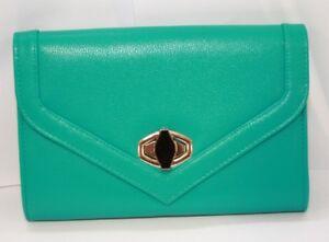 Fashion Only Emerald Flapover Twist Lock Clutch Purse LSE00229 VR34 012