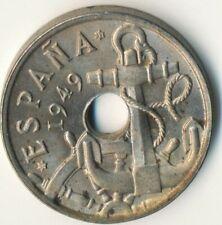 COIN / SPAIN / 50 CENTIMOS 1949     #WT7791