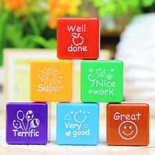 6pcs Teachers Praise Encourage Comment Children Signet Seal Stamps Sticker Gift·