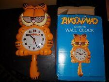 Vintage 1978 Paws Garfield Wall Clock w/Box- Super Rare! Look!