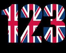 Wheelie Bin Numbers. Union Jack Design x 3 Numbers. 176mm High.