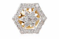 Pave 1 Cts Rond Brillante Couper Diamants Clous Boucles d'oreilles En 585 14K Or