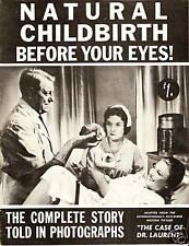 1958 Natural Childbirth Magazine FRENCH MOVIE PHOTOS