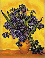 RIOLIS  1087  COUNTED  CROSS STITCH  KIT - IRISES  after Van Gogh's Painting