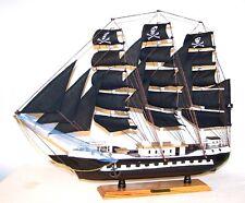 "HUGE 24"" WOODEN PIRATE SHIP GI379 nautical ocean pirates ships wood boats NEW"