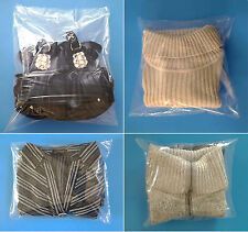 """300 11x12"""" Clear Poly Bags 1-Mil LayFlat Open-Top End Plastic Baggies"""