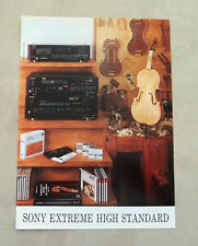 F075 - Advertising Pubblicità - 1992 - SONY EXTREME HIGH STANDARD