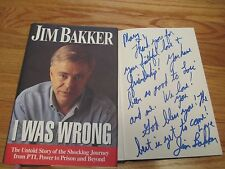 Televangelist JIM BAKKER signed I WAS WRONG 1st Ed 1996 Hard Cover Book COA