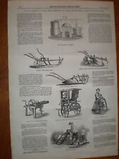 Prize agricultural tools Smithfield Show London 1847