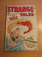 MARVEL: STRANGE TALES #107, 1ST CROSSOVER, TORCH VS SUBBY, 1963, VG+ (4.5)!!!
