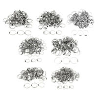 100Pcs Adjustable Stainless Steel Band Worm Gear Hose Clamp Clip Fastener