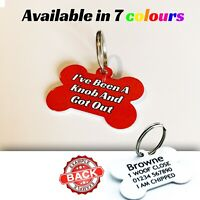 Funny Rude Pet ID Tags - I've Been A Knob Pet Tags -Dog ID Tag Personalised FREE