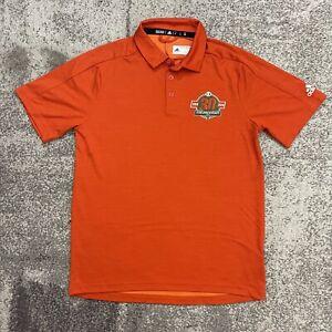 Adidas NCAA Miami Hurricanes 30 Year Anniversary Polo Shirt Mens Medium