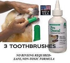 Dog Cat Pet Oral Care Dental GEL TOOTHPASTE& 3 TOOTHBRUSH Reduce Plaque/Tartar